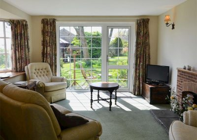 The living area at Valley View, Burrow Farm Garden Retreat, Dalwood