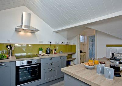 The kitchen at Vane Tower, Torquay