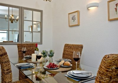The dining area at Vane Tower, Torquay