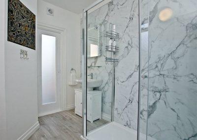 The bathroom at Vane Tower, Torquay