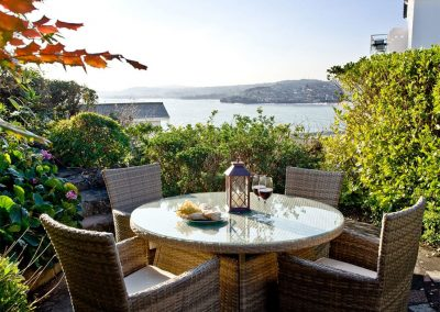 The outdoor patio & view at Vane Tower, Torquay