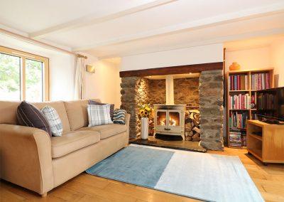 The living area at Ventonwyn, Perranzabuloe