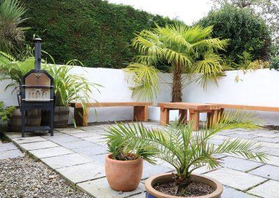 The outdoor patio & barbecue at Ventonwyn, Perranzabuloe