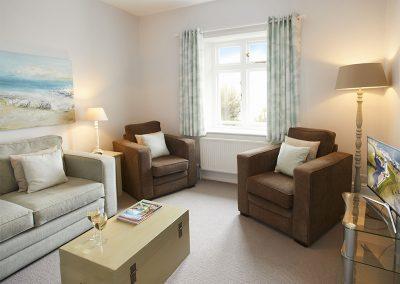 The living room at Verity Cottage, Trevose Head Lighthouse, Trevose