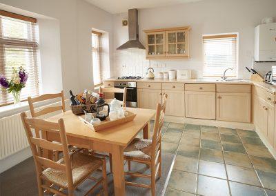 The kitchen & dining area at Verity Cottage, Trevose Head Lighthouse, Trevose
