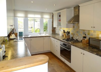 The kitchen at Wassail Cottage, Yalberton
