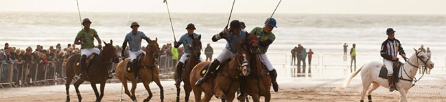 You may be more familiar with seeing donkeys on the beach than valuable polo ponies, but each May Watergate Bay hosts the award-winning Polo on the Beach.