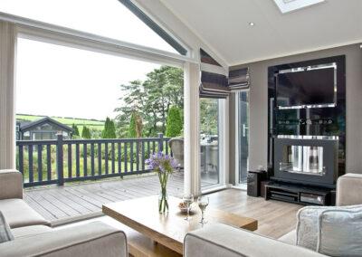 The living area at Watermouth Lodge, Kentisbury Grange, Kentisbury