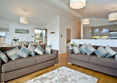 The living area at Waters Edge, Lakeview Manor, Dunkeswell