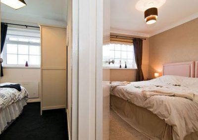 Bedroom #3 is adjacent to bedroom #1 @ Waters Edge