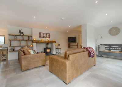 The living area at Waterside, Kenn