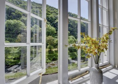 The view from bedroom #2 at Watersmeet Cottage, Lynmouth