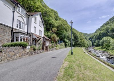 Outside Watersmeet Cottage, Lynmouth
