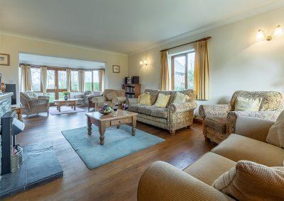 The living area at Webbs Retreat, Roserrow, Polzeath