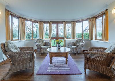 The conservatory at Webbs Retreat, Roserrow, Polzeath