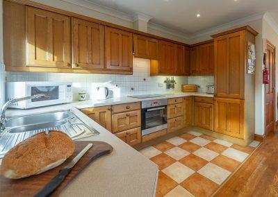 The kitchen at Webbs Retreat, Roserrow, Polzeath