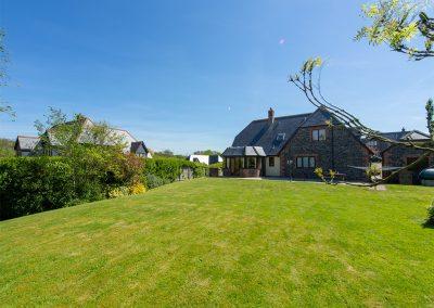 The garden at Webbs Retreat, Roserrow, Polzeath