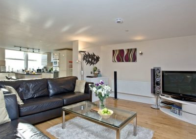 The living area at Westcliffe, Newquay