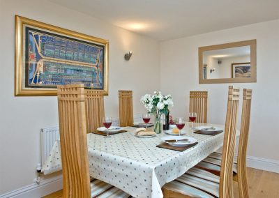 The dining area at Westcliffe, Newquay