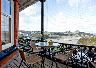 The balcony at Westcliffe, Newquay