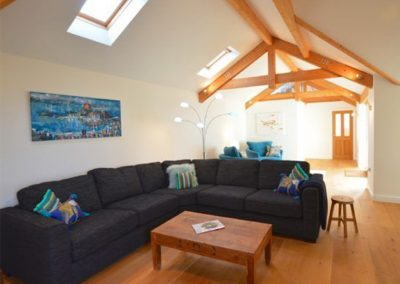 The living area at Westerley, Portreath