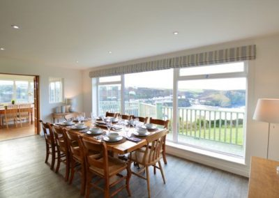 The dining area at Westerley, Portreath