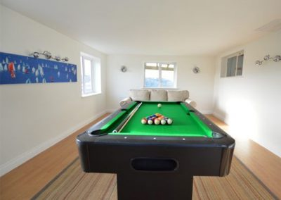 The games room at Westerley, Portreath