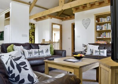 The living area at What a Beauty, Higher Churchtown Farm, Tresmeer