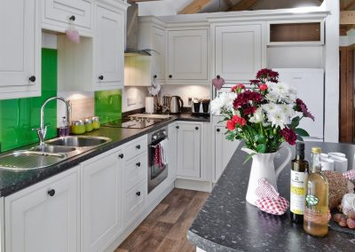 The kitchen at What a Beauty, Higher Churchtown Farm, Tresmeer