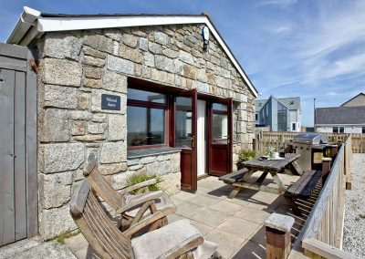 The outdoor patio & barbecue area at Wheal Jane, Wheal Dream, Wendron