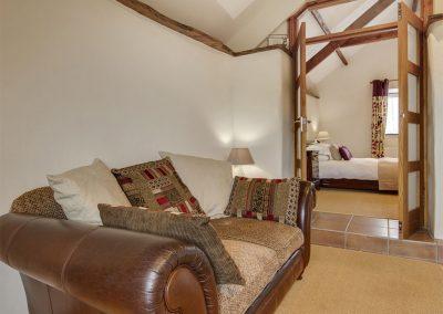 The open-plan living area at WhiteTor Farm: Nestling, Cudlipptown