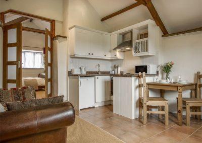 The open-plan kitchen & dining area at WhiteTor Farm: Nestling, Cudlipptown