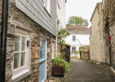 Outside Wickham Cottage, Calstock