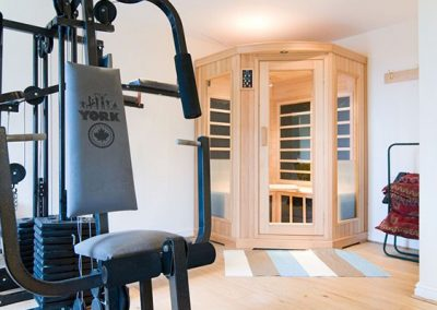 The gym & sauna @ Windwards, St Ives