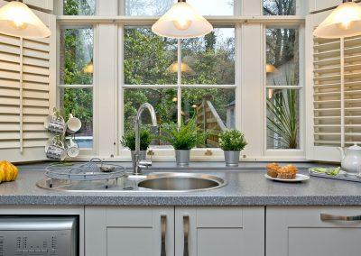 The kitchen at Wisteria Cottage, Cockington Cottages, Cockington