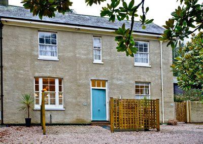 Outside Wisteria Cottage, Cockington Cottages, Cockington