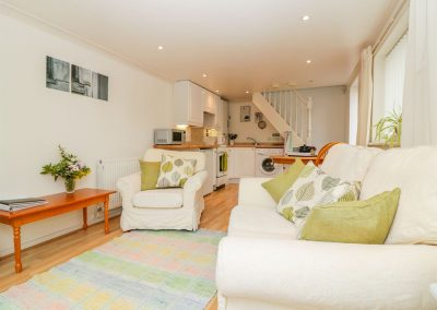The living area  at Wisteria Cottage, Exmouth