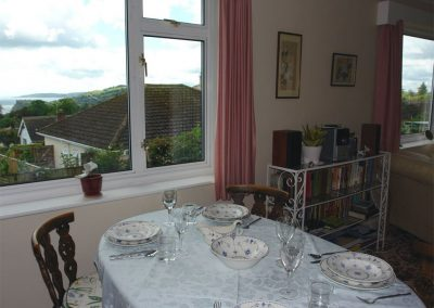 The dining area at Woodbury, Teignmouth