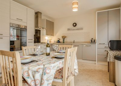 The open-plan kitchen & dining area at Woodside, Bideford