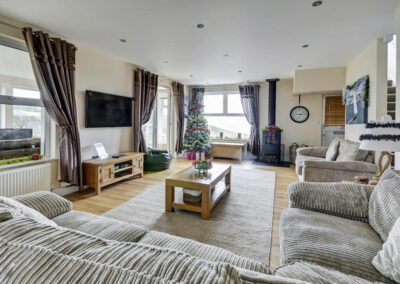 The living room at Woolacombe Country House, Woolacombe