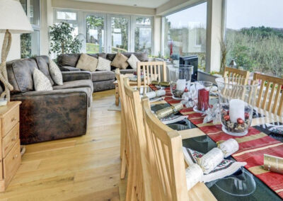 The first floor living area at Woolacombe Country House, Woolacombe