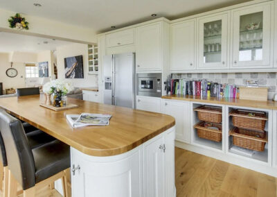 The kitchen at Woolacombe Country House, Woolacombe