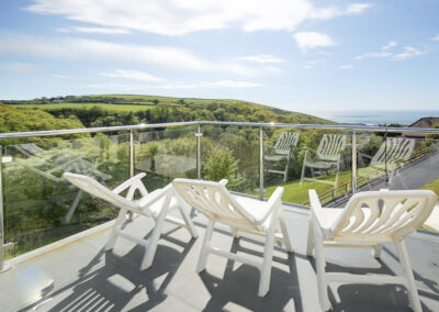 The first floor balcony at Woolacombe Country House, Woolacombe