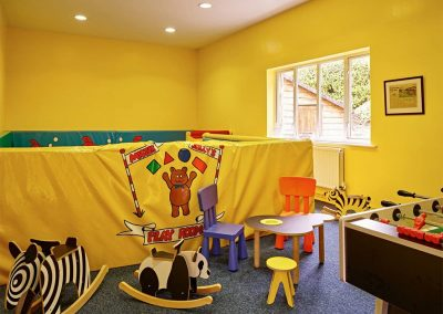 The children's games room at Gitcombe House Country Cottages, Cornworthy