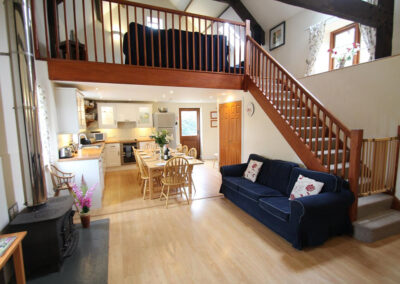 The living area at Yenworthy Mill, Oare