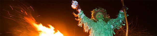 For a family fun evening of Pagan celebration, what could be better than the Stoke Gabriel Wassail which takes place every January?